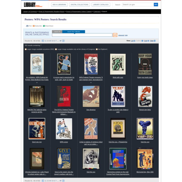 """Search Results: """""""" - Prints & Photographs Online Catalog (Library of Congress)"""