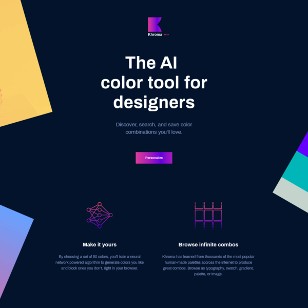 Khroma - The AI color tool for designers