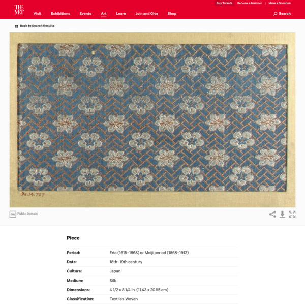 Piece | Japan | Edo (1615-1868) or Meiji period (1868-1912) | The Met