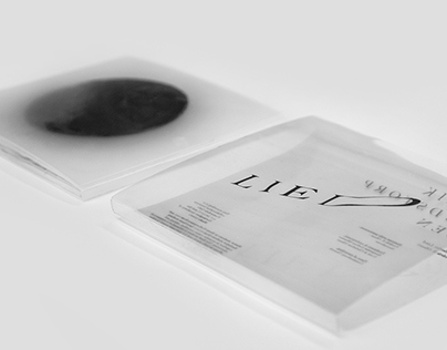 We were commissioned to interpret and visualize a contemporary classical piece and visualize the feeling the piece gave us. Those feelings were mysterious, dark and emptiness, and we chose transparency as a tool to convey them. The closed cover shows a co...