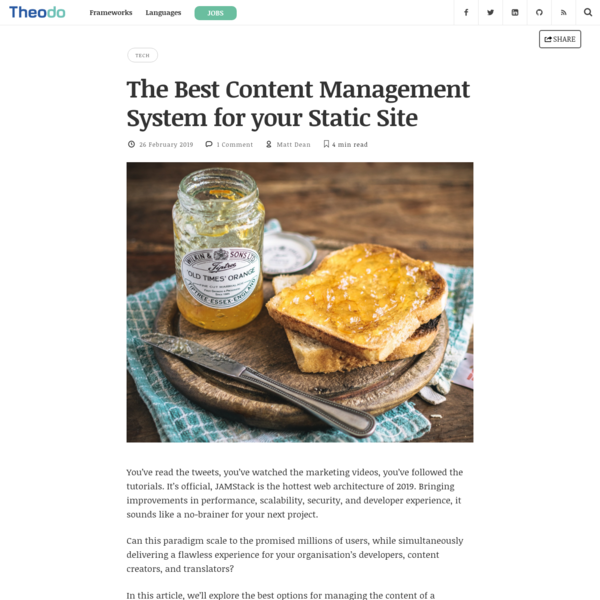 The Best Content Management System for your Static Site