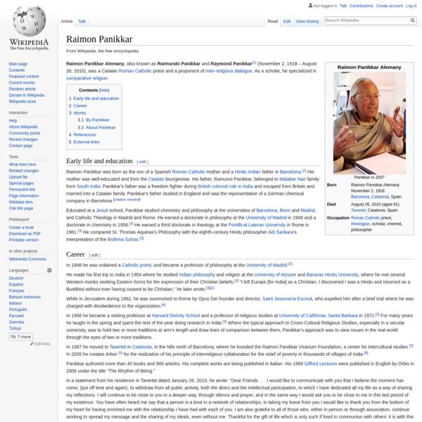 Raimon Panikkar - Wikipedia