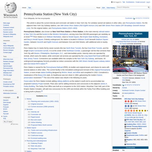 Pennsylvania Station (New York City) - Wikipedia