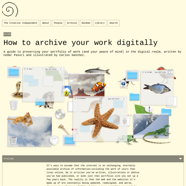 How to archive your work digitally