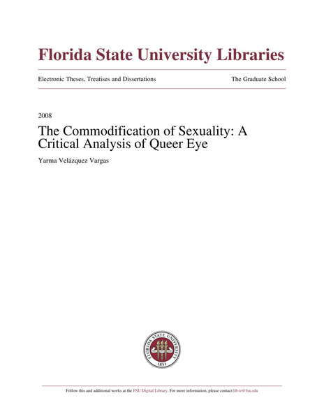 Commodification of Sexuality: A Critical Analysis of Queer Eye – Yarma Velazquez Vargas