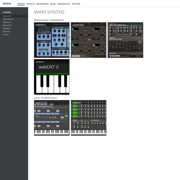 WAM SYNTHS   Web Audio Modules