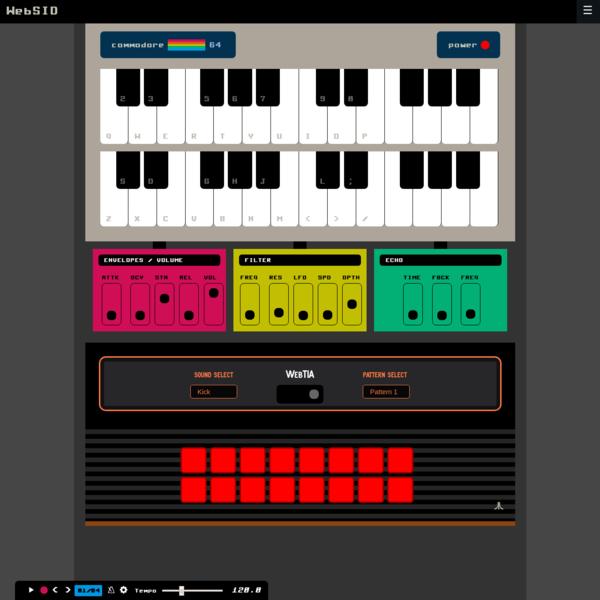Chrome experiment - WebSID - Make chiptune music online