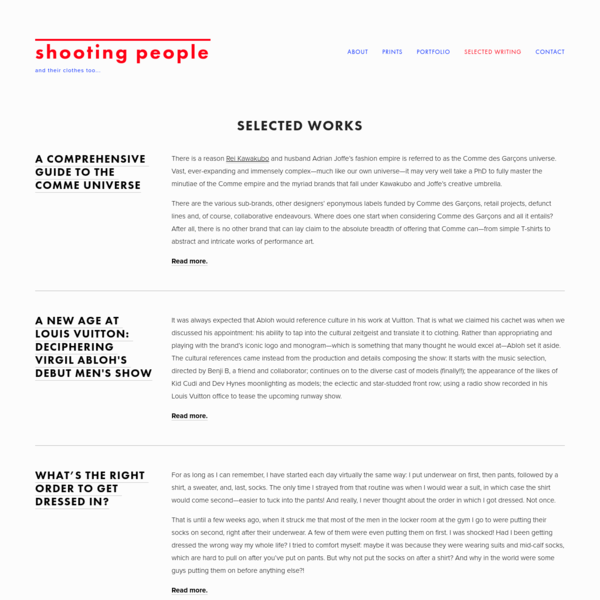 Selected Writing - shooting people