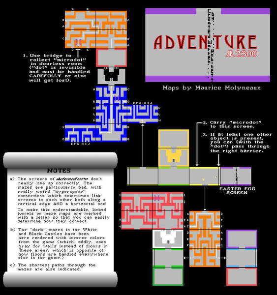 Adventure (Atari 2600) Maps, Maurice Molyneaux