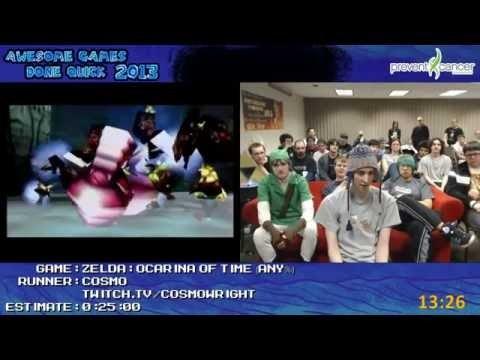 [REUPLOAD] The Legend of Zelda- Ocarina of Time Speedrun in 22-38, live at AGDQ2013