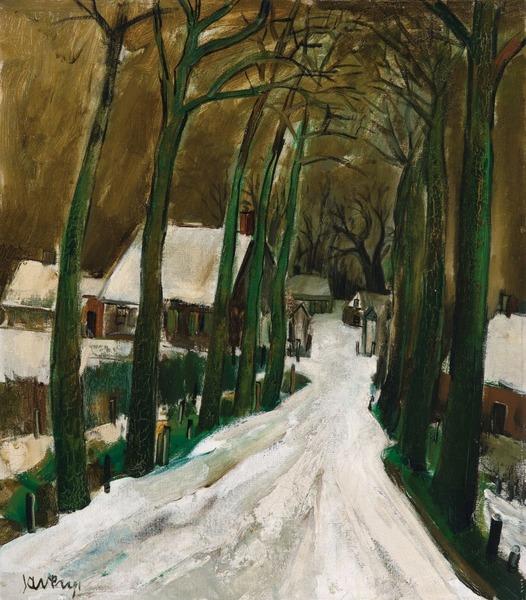 Albert Saverys, Drève en hiver [Drive in Winter], c.1930