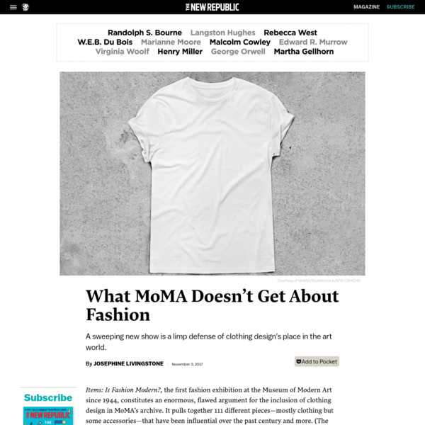 What MoMA Doesn't Get About Fashion