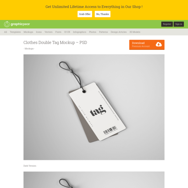 Clothes Double Tag Mockup - PSD