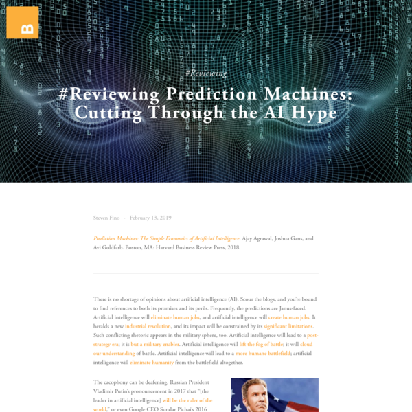 #Reviewing Prediction Machines: Cutting Through the AI Hype