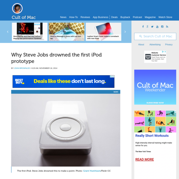 Why Steve Jobs drowned the first iPod prototype | Cult of Mac