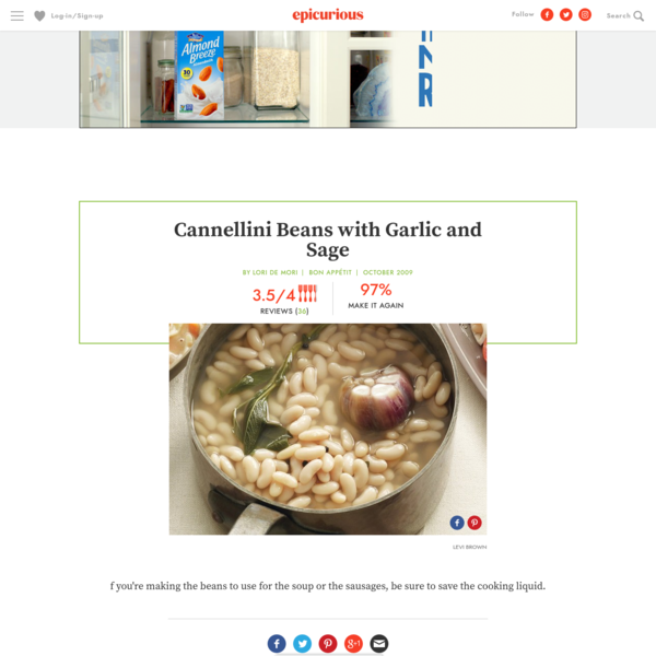 Cannellini Beans with Garlic and Sage