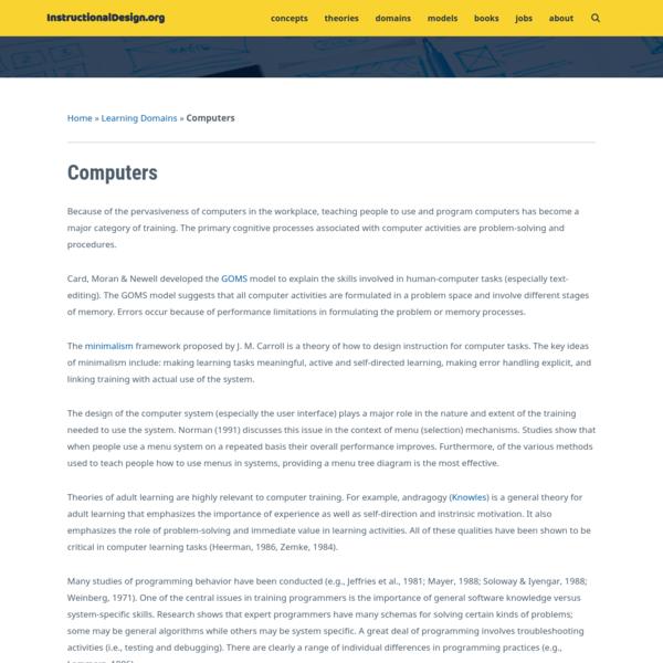Computers - InstructionalDesign.org