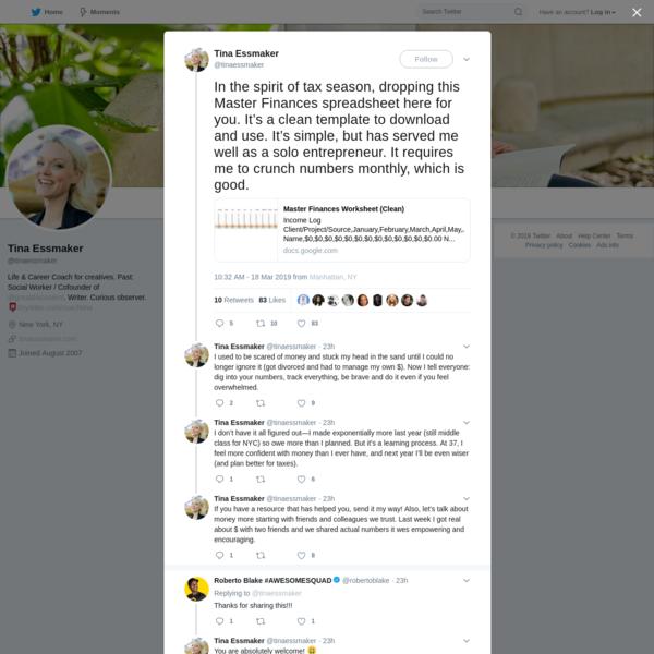 Tina Essmaker on Twitter