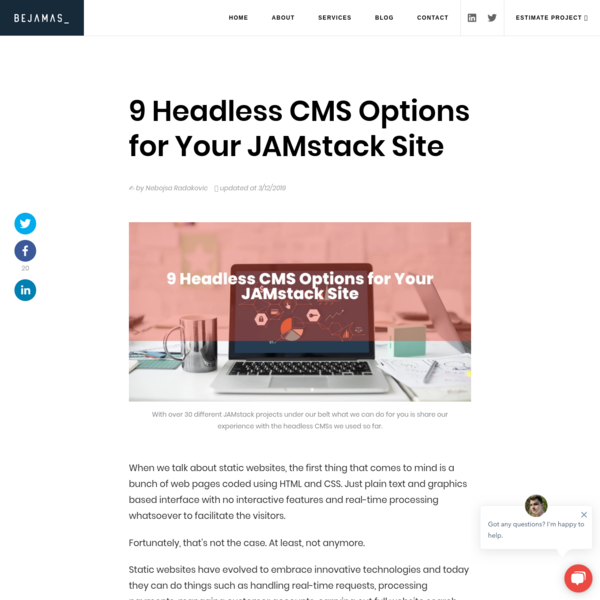 9 Headless CMS Options for Your JAMstack Site