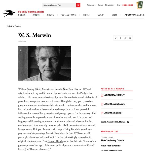 W. S. Merwin