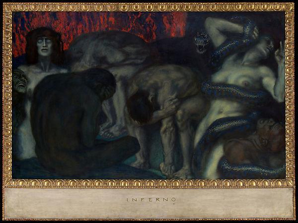 Franz von Stuck Inferno 1908 Met NYC