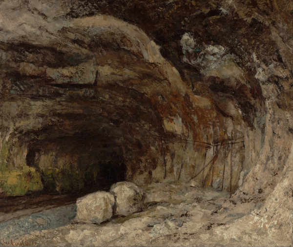 Gustave Courbet (1819–1877) Grotto of Sarrazine near Nans-sous-Sainte-Anne 1864 oil on canvas 19.76 x 23.62 in The J. Paul Getty Museum