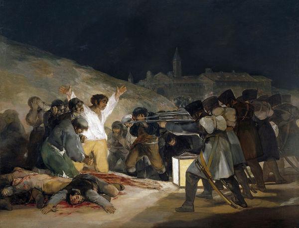 Francisco de Goya y Lucientes Los fusilamientos del tres de mayo 1814 Museo del Prado Madrid