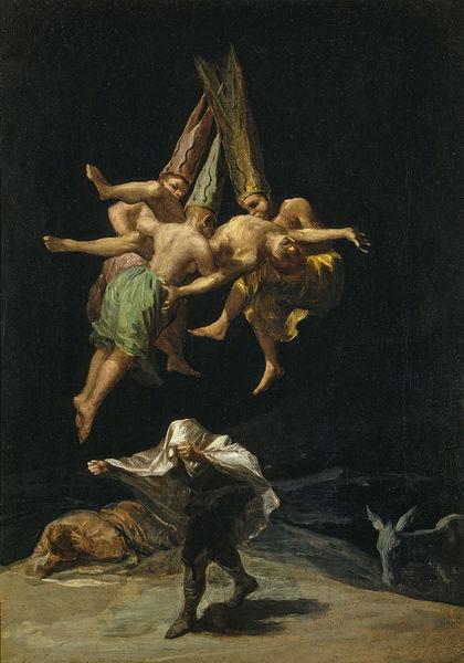 Francisco de Goya Vuelo de brujas 1798 Museo del Prado Madrid