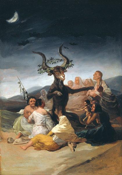 Francisco de Goya y Lucientes El Aquelarre 1797-1798 Museo Lázaro Galdiano, Madrid