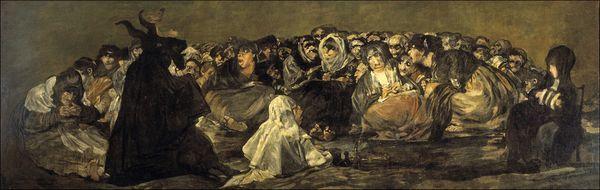 Francisco de Goya y Lucientes El aquelarre (o El gran cabron) Pintura negra 1819–1823 Museo del Prado Madrid