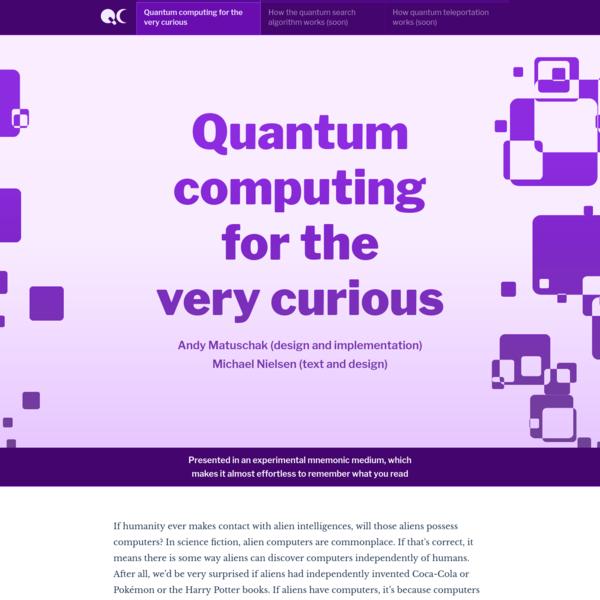 Quantum computing for the very curious