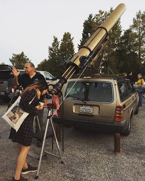 volvo 240 wagon telescope