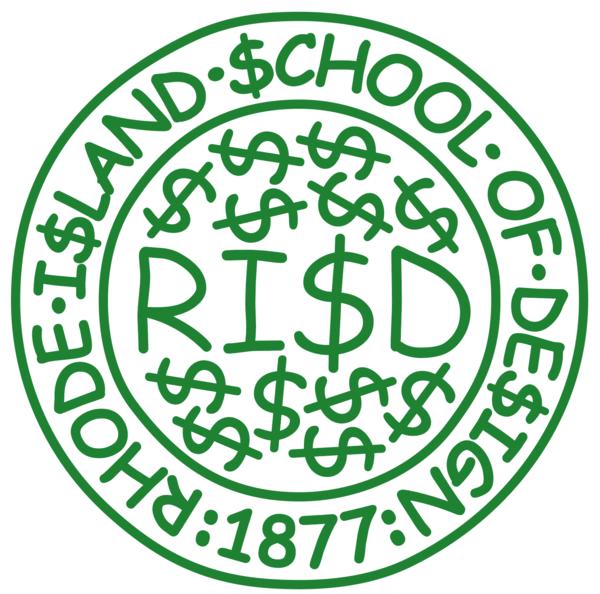 "The RISD ""Comic, Sans Cash"" Seal"