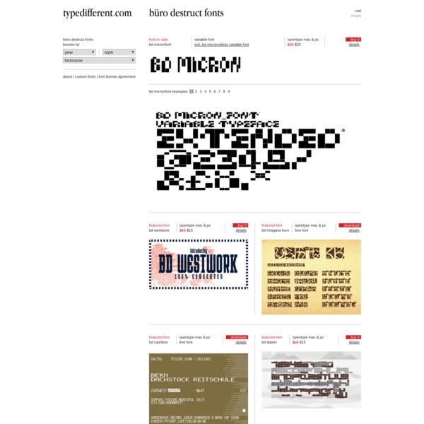 Büro Destruct fonts online