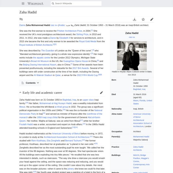 Zaha Hadid - Wikipedia