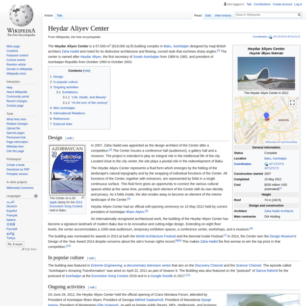 Heydar Aliyev Center - Wikipedia