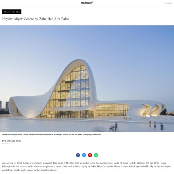 Heydar Aliyev Centre by Zaha Hadid in Baku