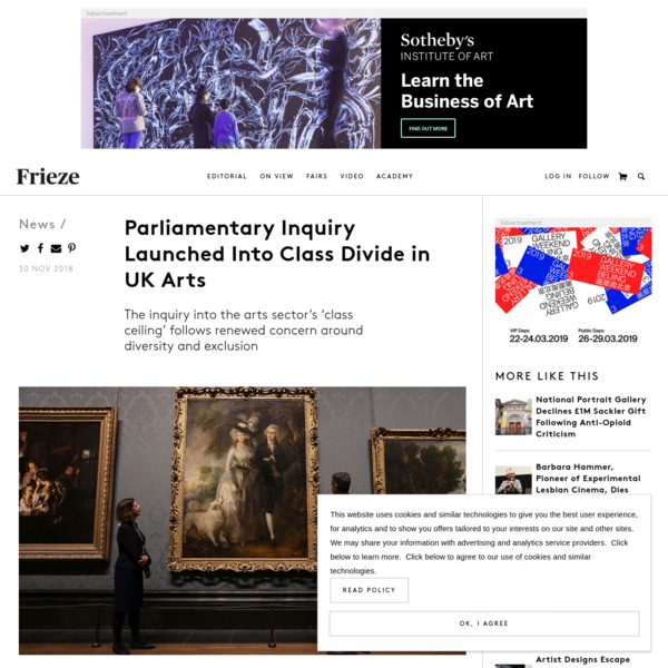 Parliamentary Inquiry Launched Into Class Divide in UK Arts