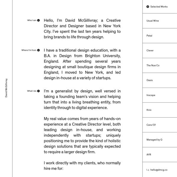 David McGillivray - Designer of Identities & Digital Experiences
