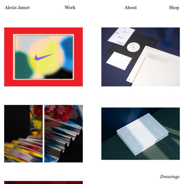Hi, I'm Alexis Jamet and I'm a multi-disciplinary designer and art director.