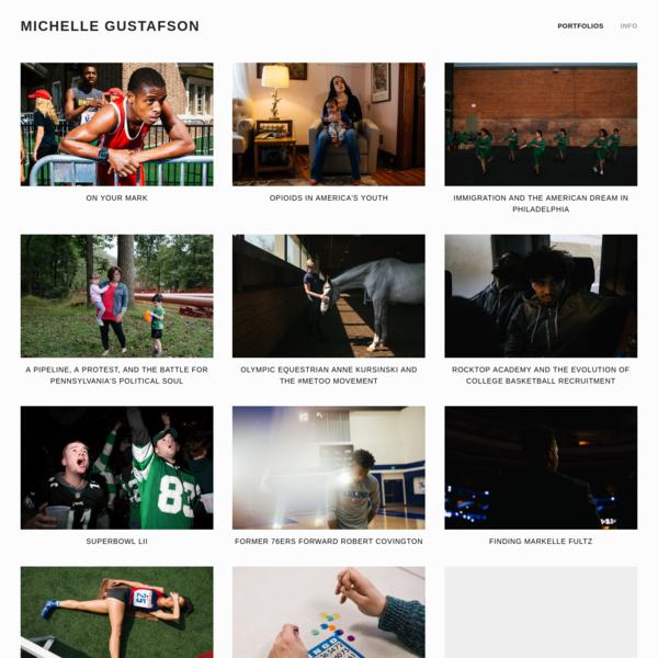Michelle Gustafson is an American freelance photojournalist based in Philadelphia, Pennsylvania.