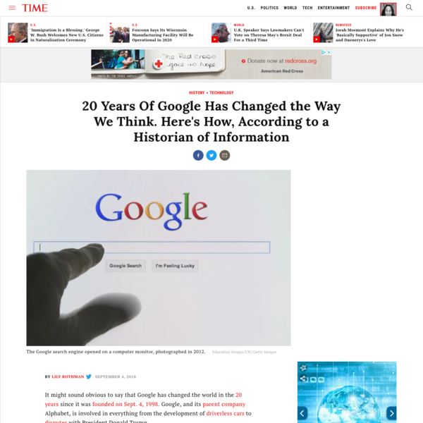20 Years Of Google Has Changed the Way We Think. Here's How, According to a Historian of Information