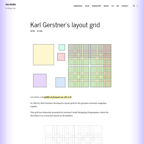 Karl Gerstner's layout grid