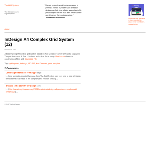 "The Grid System "" InDesign A4 Complex Grid System (12)"
