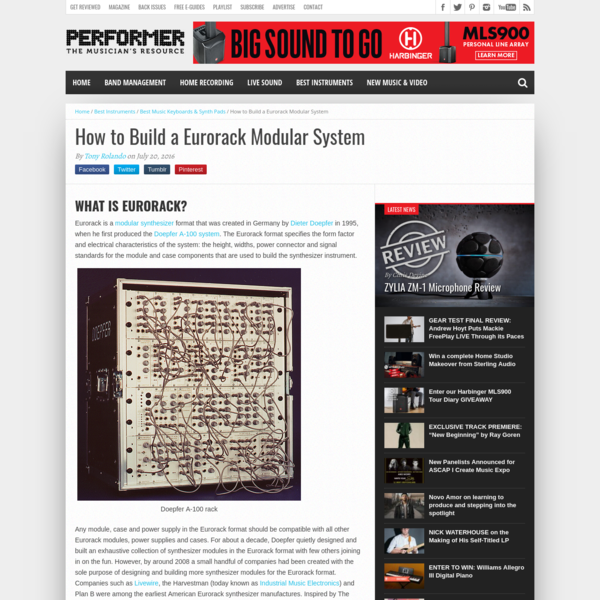 How to Build a Eurorack Modular Synth