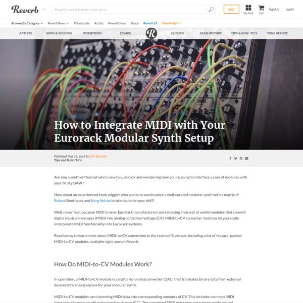 How to Integrate MIDI with Your Eurorack Modular Synth Setup