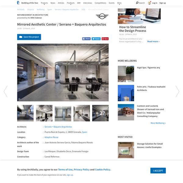 Mirrored Aesthetic Center / Serrano + Baquero Arquitectos