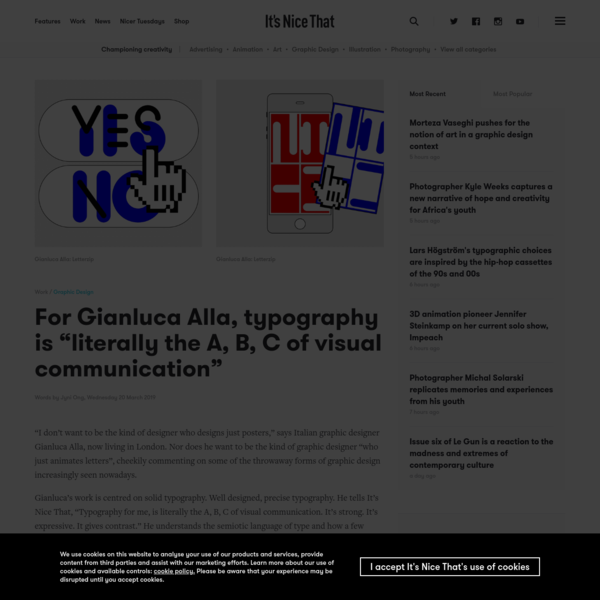 """For Gianluca Alla, typography is """"literally the A, B, C of visual communication"""""""