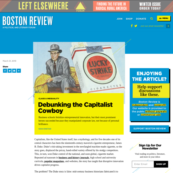 Debunking the Capitalist Cowboy