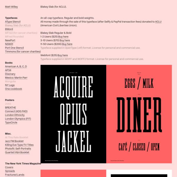 Blakey Typeface (for ACLU) * - Matt Willey